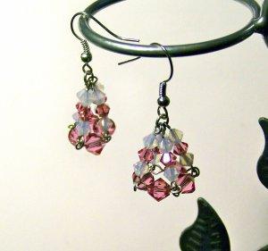 Crystal Cone Earrings
