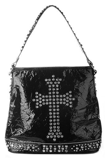 Stones and Studded Bag w/Cross and Studded Strap - Each Bag