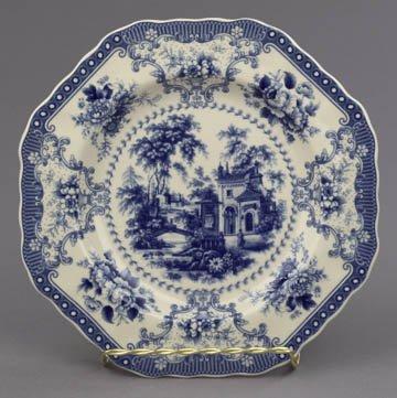 Fancy Blue White Transferware Plate