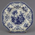 Fancy Blue White Transferware Plate