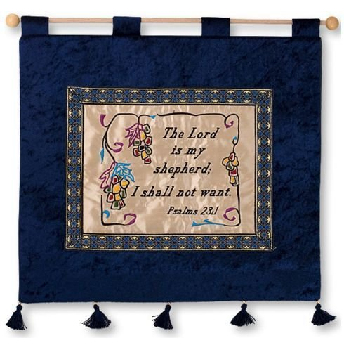 Scripture wall hanging hand made - Psalms 23:1