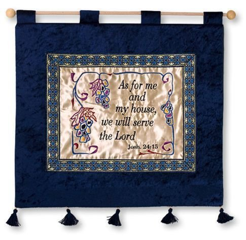 Scripture wall hanging hand made - Joshua 24:15