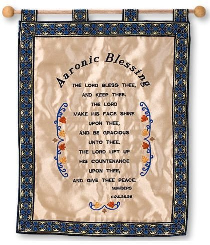 Scripture wall hanging hand made - Aaronic Blessing