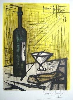 BERNARD BUFFET Signed 1964 Original Color Lithograph