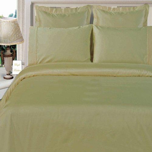 Queen Size Linen(Tan) Duvet Cover Set Bamboo Organic Cotton