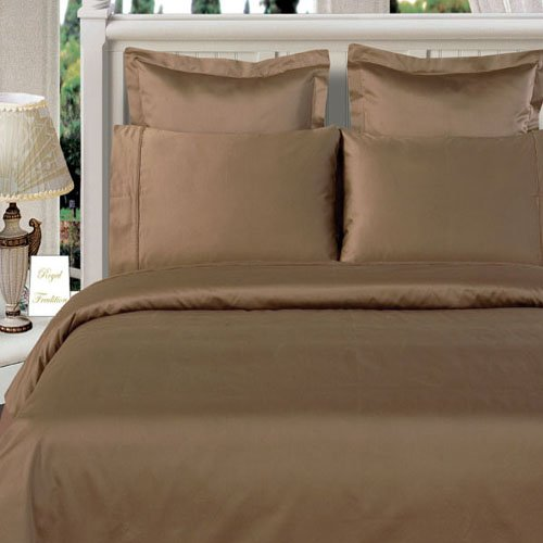 Bamboo Cotton King/Calking Size Taupe Duvet Cover Set