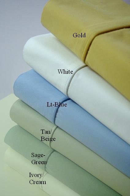 100% Bamboo Cotton Calking Size Sheet Set Solid Ivory