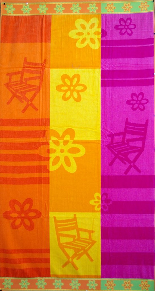 Egyptian Cotton Beach Towel Beach Time (40x70 inches)