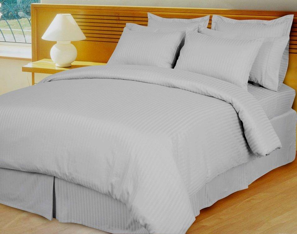 Lilac Damask Stripe Down Alternative 4-pc Comforter Set, Egyptian 600 count