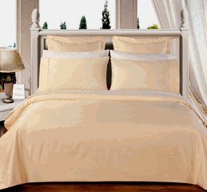 Ivory Solid Down Alternative 4-pc Comforter Set,100% Egyptian cotton, 550 Thread count