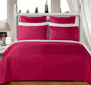 Burgundy Solid Down Alternative 4-pc Comforter Set,100% Egyptian cotton, 550 Thread count