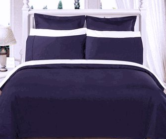 Navy Solid Down Alternative 4-pc Comforter Set,100% Egyptian cotton, 550 Thread count