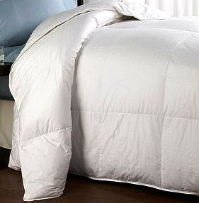 Down Alternative King /Cal-king size White Comforter 300-TC Micro-Fiber