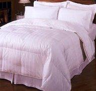 White-Stripe Goose Down Egyptian cotton King-CalKing Comforter