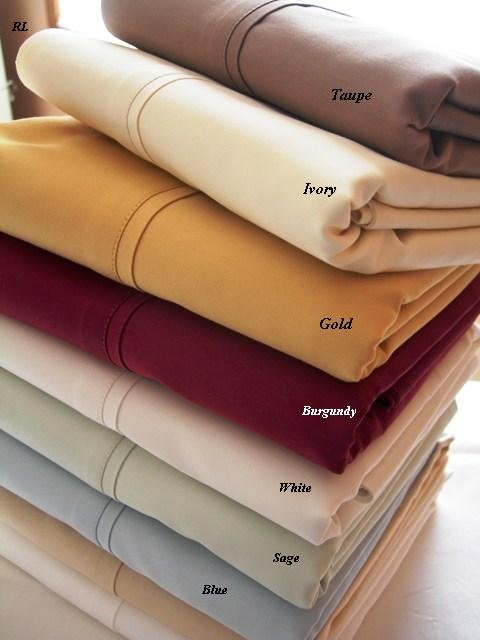 T300 CalKing/Waterbed Solid Burgundy Sheet Sets (unattached)