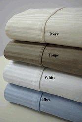 T1000 CalKing Waterbed Stripe White Sheet Set (unattached)