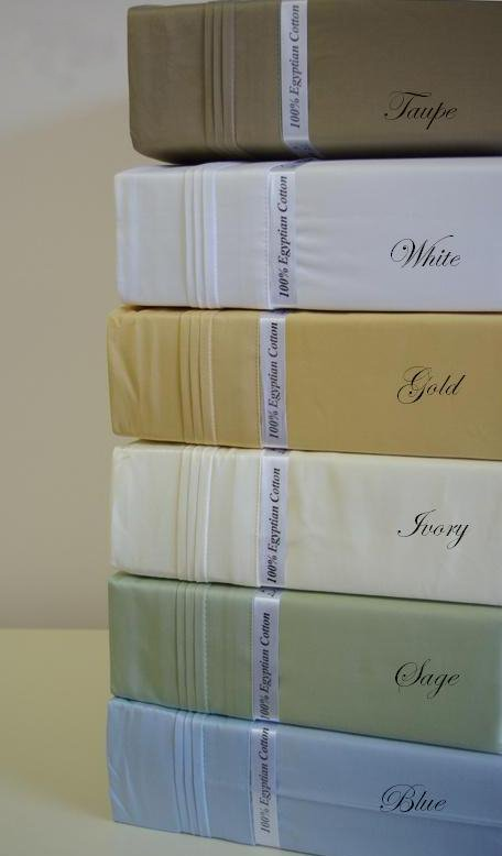 1500 Thread count CalKing Waterbed Solid Gold Sheet set (unattached)