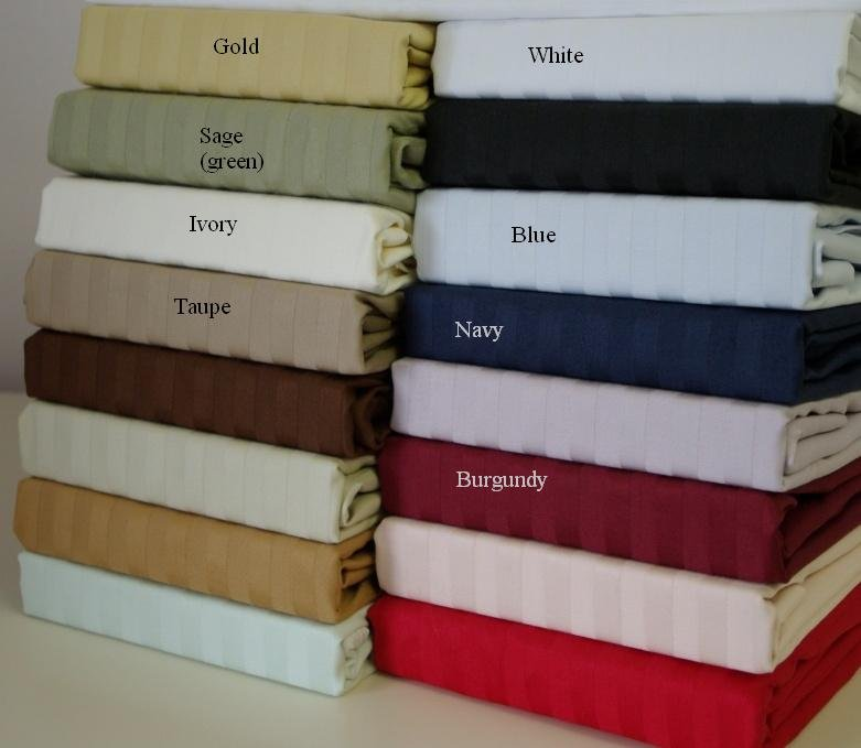 600 Thread count Cal-Queen Waterbed sheets (unattached) Burgundy
