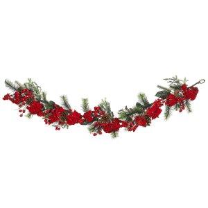 "72"" Holiday Hydrangea Garland"