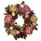 """24"""" Peony Hydrangea Wreath"""