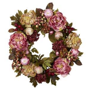 24� Peony Hydrangea Wreath