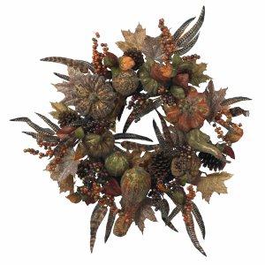 """28"""" Autumn Pumpkin Wreath"""