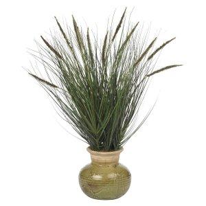 27� Grass w/Mini Cattails Silk Plant