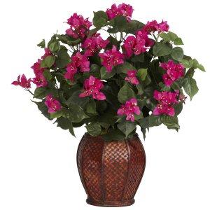 Bougainvillea w/Vase Silk Plant
