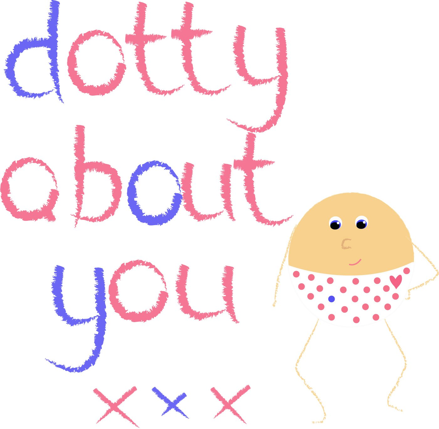 Dotty about you ...greetings card