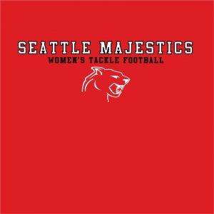 """Red """"Seattle Majestics"""" Tshirt Size:Small"""