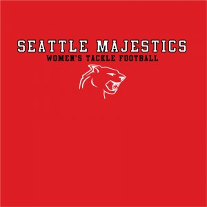 "Red ""Seattle Majestics"" Tshirt Size:X-Large"