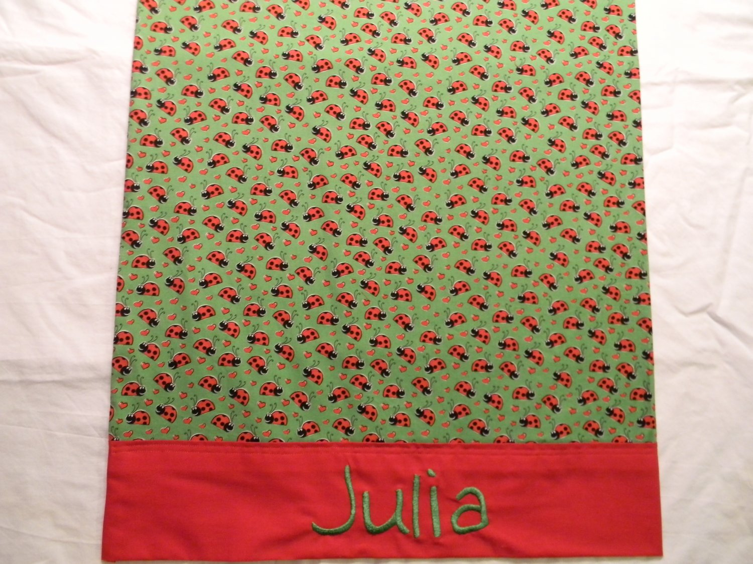 Pillowcase, Lady Bugs, custom-made