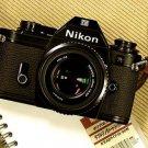 Nikon EM 35mm SLR Camera / Nikon E 50mm 1:1.8 Lens