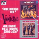 "The Ventures-2 LP's On 1 CD:  ""Underground Fire""/""Hollywood Metal Dynamic 3000"" (Import)"