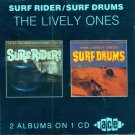 """The Lively Ones-2 Albums On 1 CD:  """"Surf Rider""""/"""" Surf Drums"""" (Import)"""