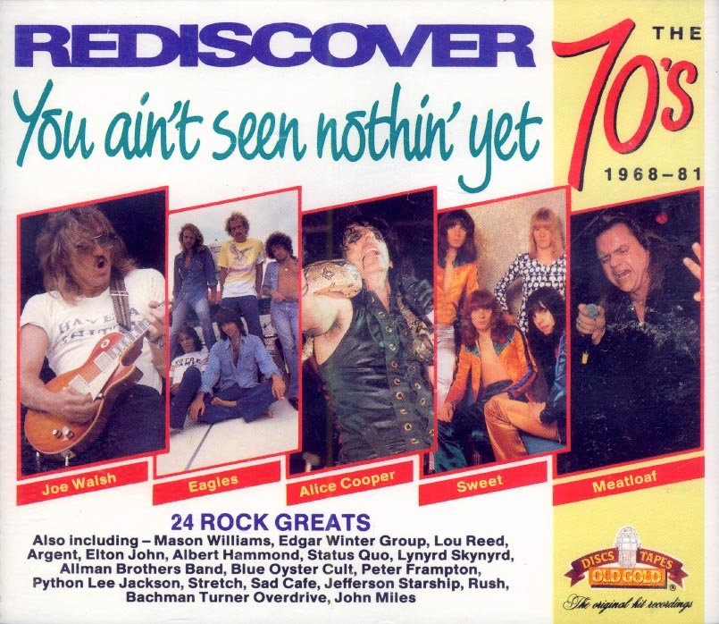 """V/A Rediscover The 70's-1968-1981: """"You Ain't Seen Nothin' Yet"""" (Import) (2 CDs)"""