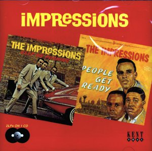 "The Impressions-2 LP's On 1 CD:  ""Keep On Pushing"" / ""People Get Ready"" (Import)"