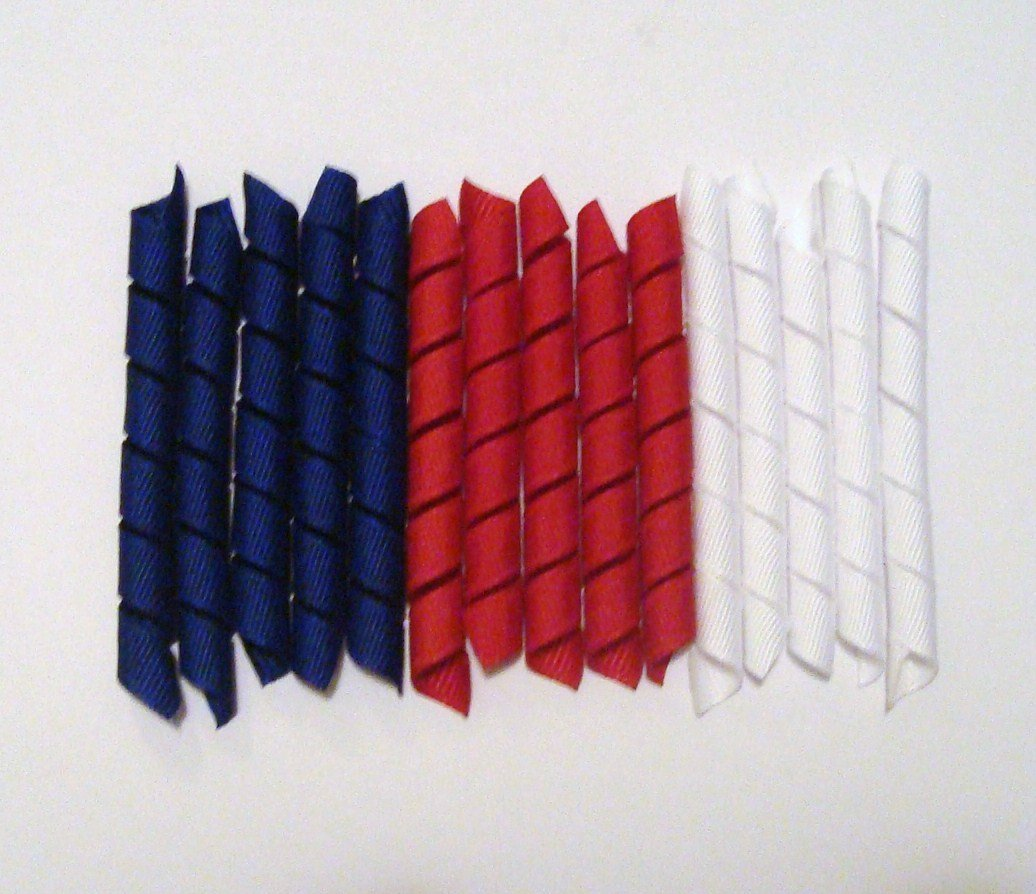 Mixed grosgrain Korker Ribbon for 4th of July!!!