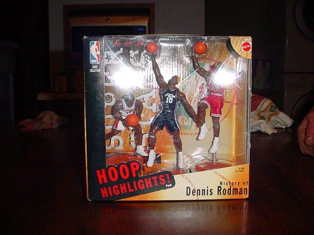 Mattel Hoop Highlights Pack History of Dennis Rodman