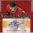 Rene Bourque 2006-07 Upper Deck Series 1 Signature Sensations #SSRB AUTO