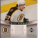 Patrice Bergeron 2006-07 Upper Deck Trilogy Honorary Swatches #HSPB JSY