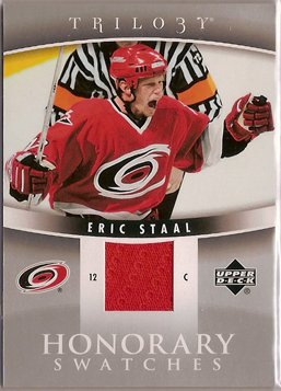 Eric Staal 2006-07 Upper Deck Trilogy Honorary Swatches #HSES JSY