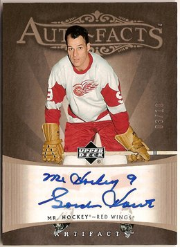 Gordie Howe 2005-06 Artifacts Auto-Facts Pewter #AFGH 3/10 AUTO SN