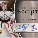 Martin Biron 2006-07 Upper Deck Trilogy Scripts #TSMB AUTO