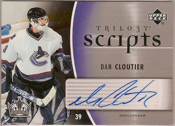 Dan Cloutier 2006-07 Upper Deck Trilogy Scripts #TSDC AUTO