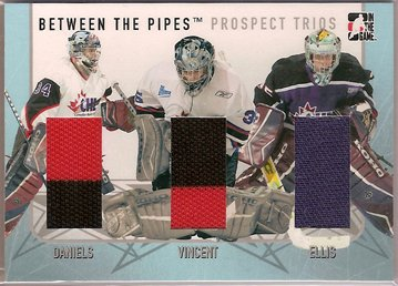 Ryan Daniels Alexandre Vincent Julien Ellis 2006-07 Between The Pipes Prospect Trios #PT11 JSY