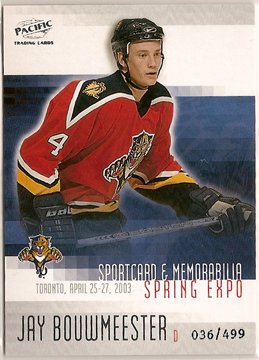 Jay Bouwmeester 2003 Pacific Toronto Spring Expo #5 36/499 SN