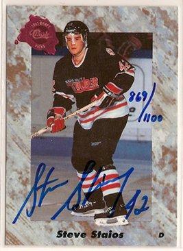 Steve Staios 1991 Classic Four Sport Autographs #24A 869/1100 AUTO SN