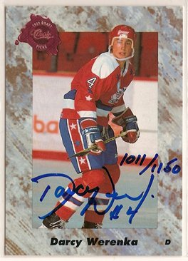 Darcy Werenka 1991 Classic Four Sport Autographs #33A 1011/1150 AUTO SN