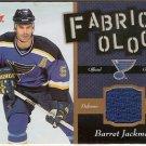 Barret Jackman 2006-07 Fleer Fabricology #FBJ JSY